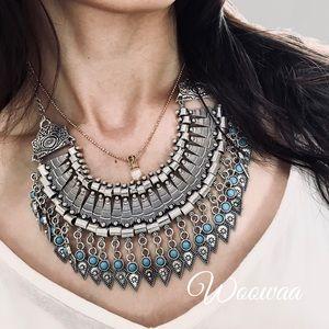 Brand New tibetan silver tassel necklace